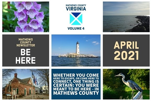 Mathews County April 2021 Newsletter Cover
