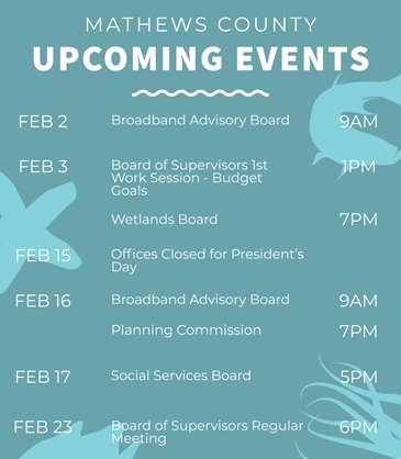 February Upcoming Events