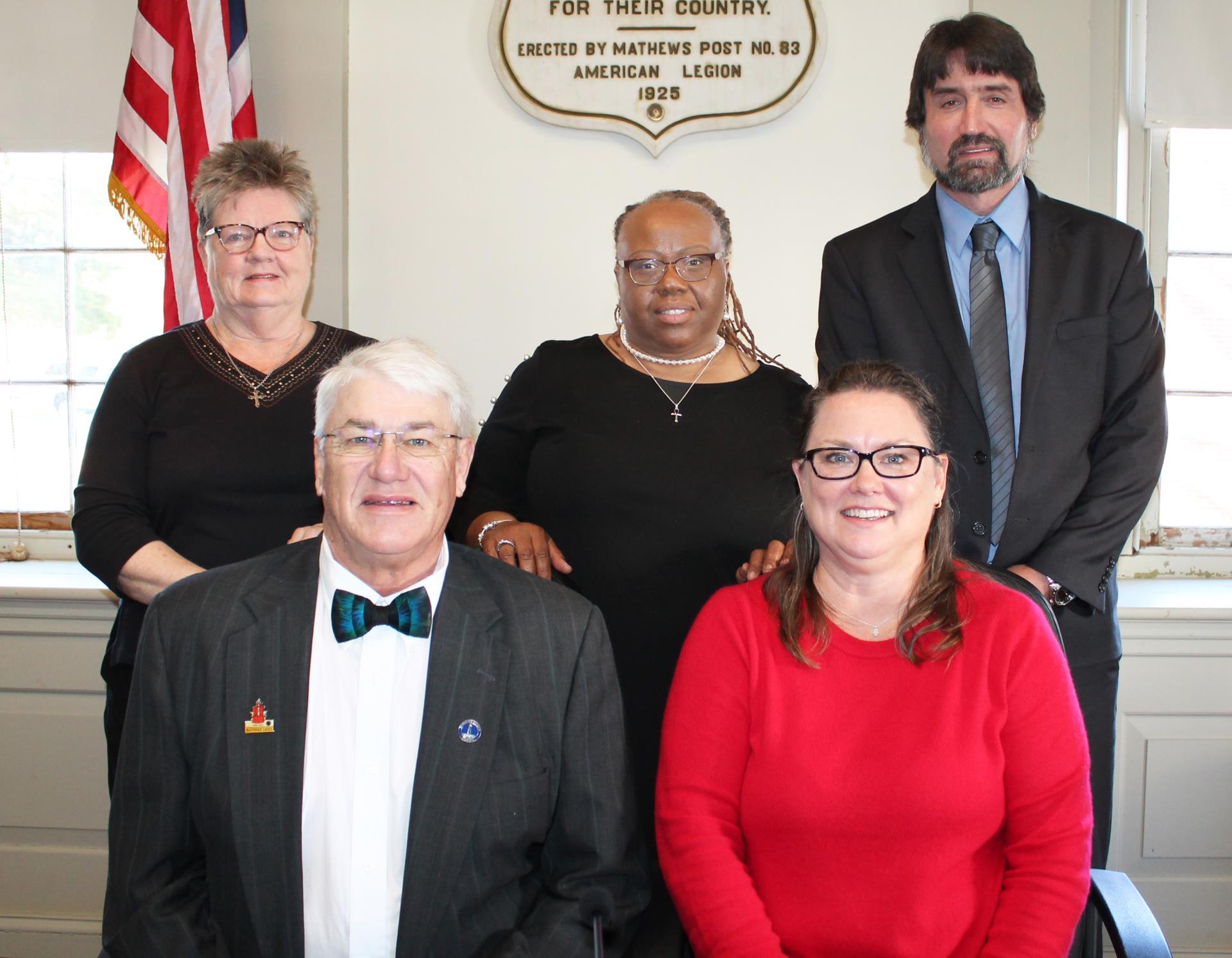 Board of Supervisors From Left: Jackie Ingram; Melissa Mason; Paul Hudgins; Michael Rowe; Amy Dubois